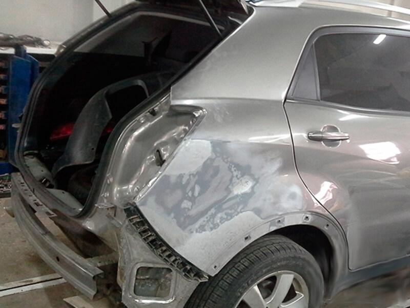 Фото ремонта автомобильного крыла